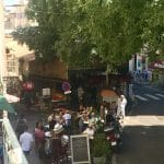 Provencal market from balcony