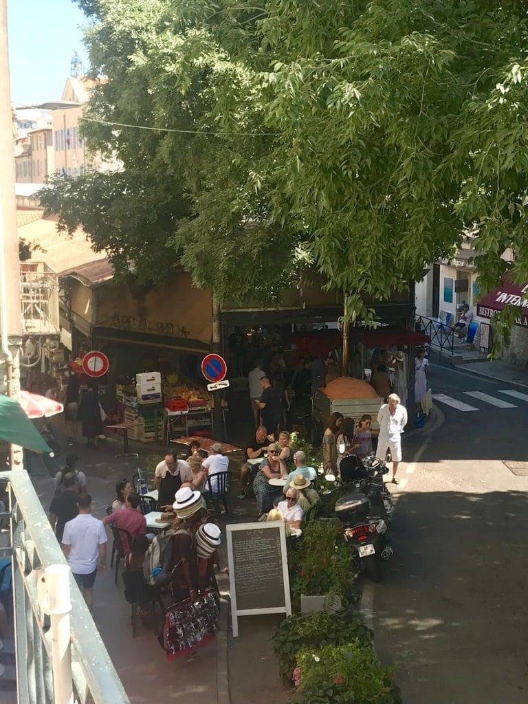 Provencal market from balcony